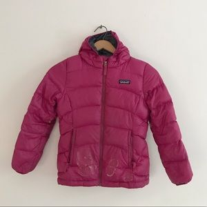 Patagonia hooded puffer down jacket